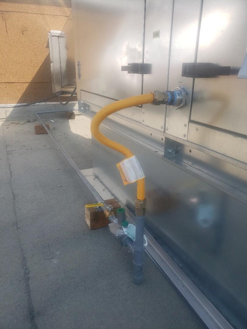 Salt Lake City, UT - New gas line for make up air in  Salt Lake City.