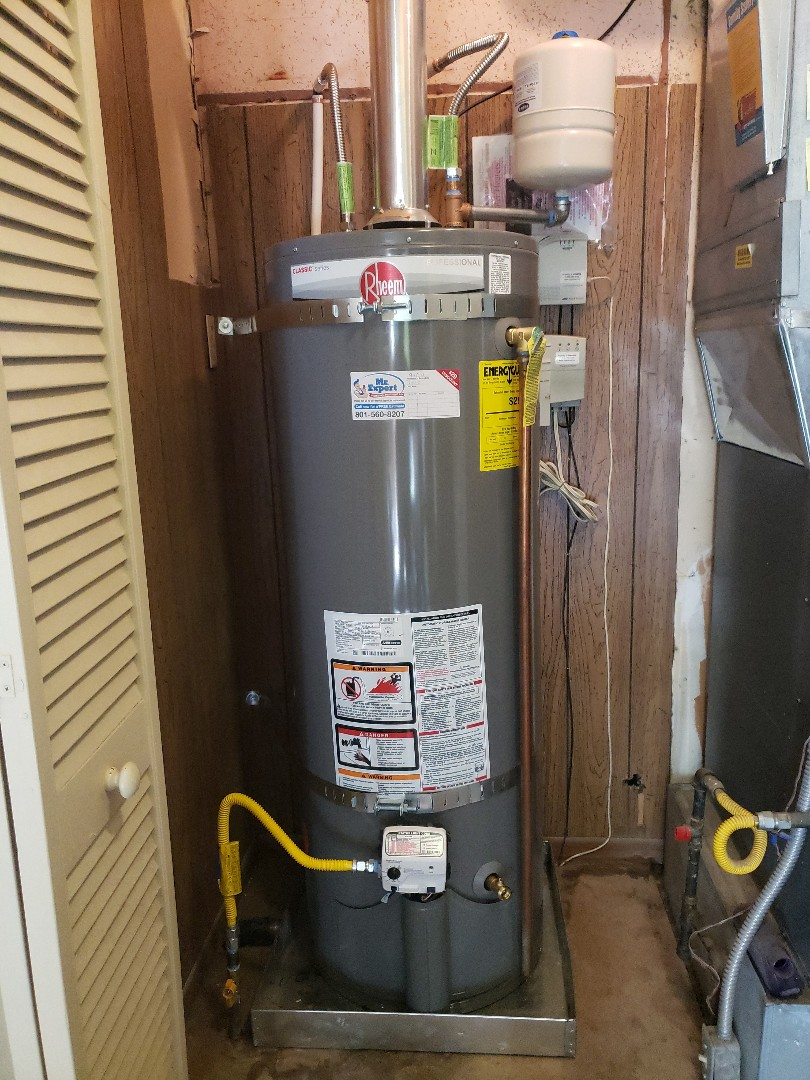 West Valley City, UT - Rellace water heater in west Valley City