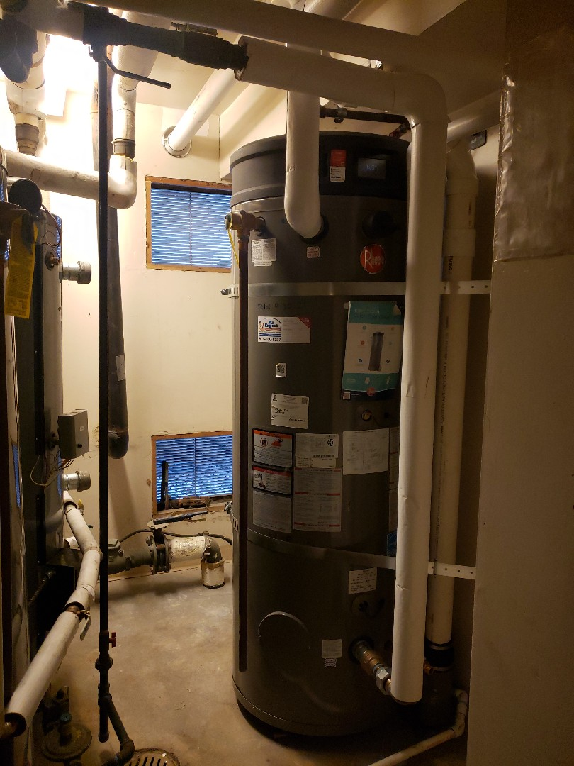 Holladay, UT - Replace a commercial type water heater from traditional 80% to a hight efficiancy 97% they will save money on gas, Cottonwood Hight Salt Lake City Utah.