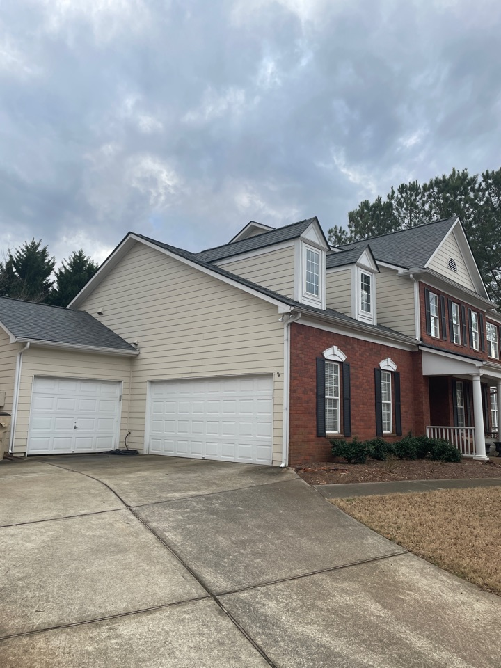 Marietta, GA - Follow up with a homeowner after we installed this new roof paid for by insurance!