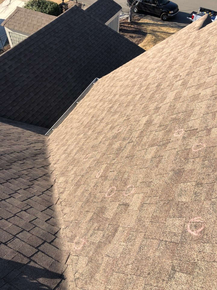 Roswell, GA - Helping this homeowner with a free roof inspection in Roswell GA today!