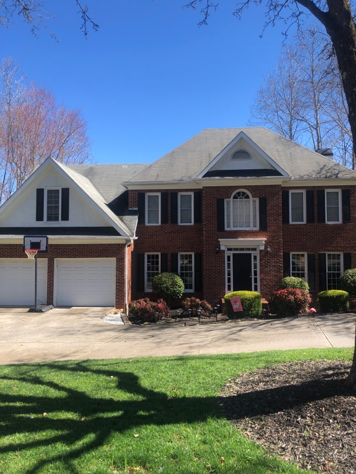 Roswell, GA - Just had an Insurance adjuster meeting with Allstate in Marietta GA, helping the homeowner get a new roof from the storm damage to their home.