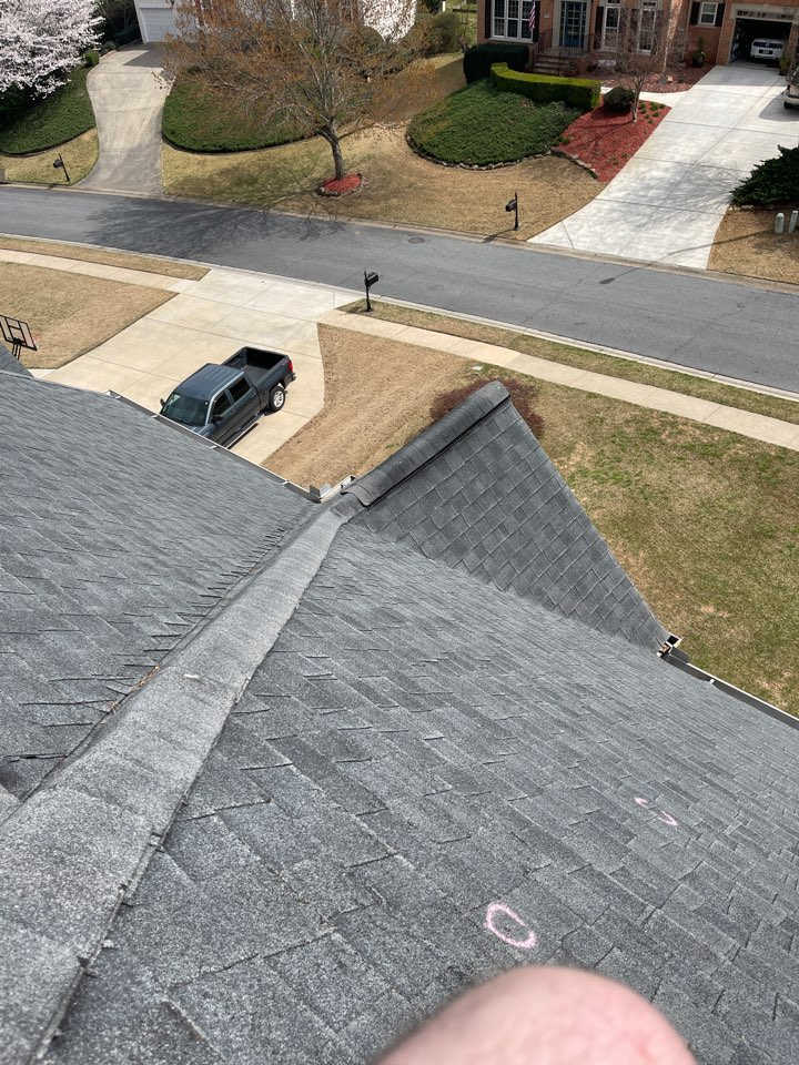 Woodstock, GA - Inspection of a home for hail damage. Call us today for your free inspection!