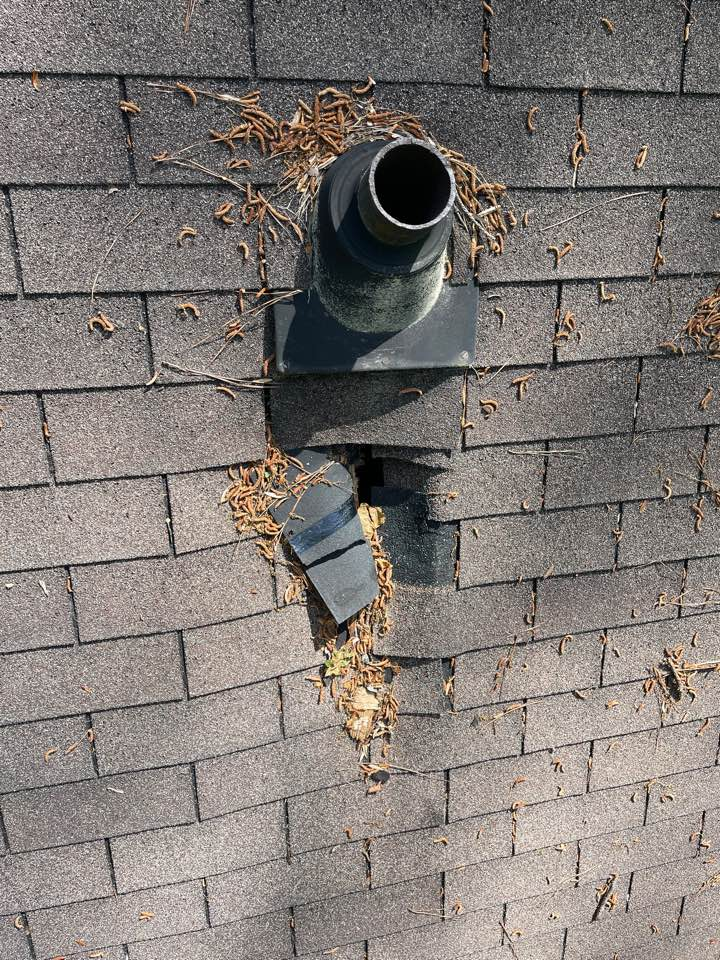 Atlanta, GA - StormROOF was called out to your neighborhood due to a leak. This was found on dartmoor rd. Call for your free inspection today