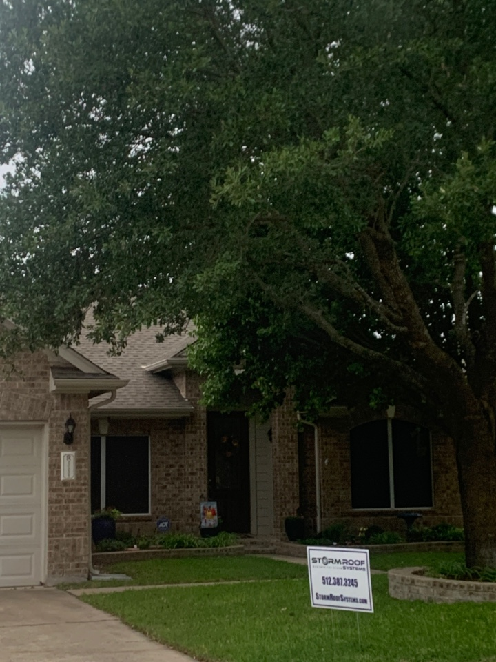 Pflugerville, TX - Just helped this homeowner file a hail claim with State Farm!