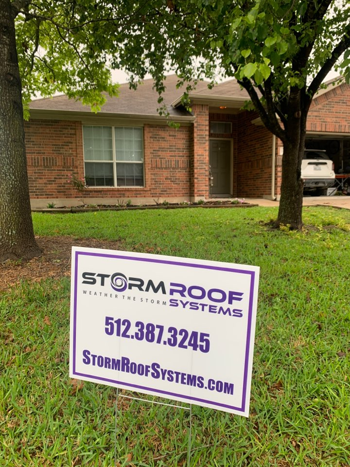 Pflugerville, TX - Hail damage? Call us today! We just finished drawing up a work order for this homeowner to get a full roof replacement paid for by insurance!