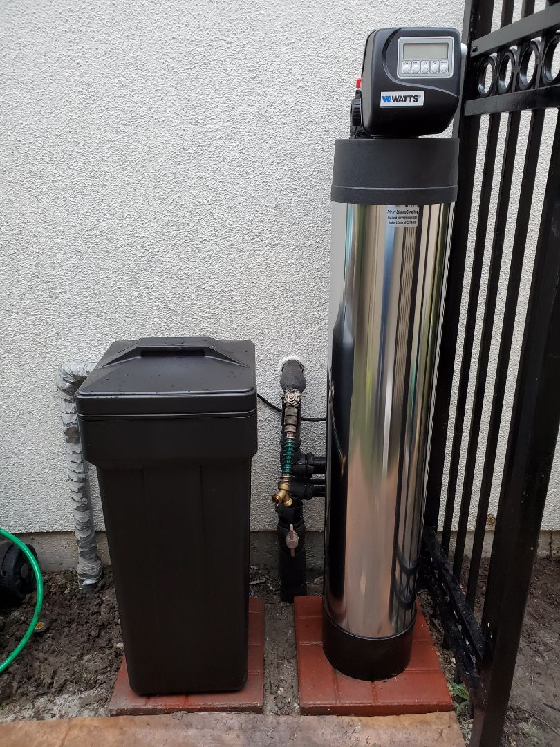 Houston, TX - Install Chem-free platinum series dual media softener/ filter.