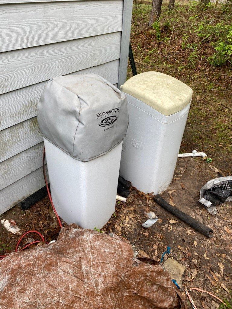 Conroe, TX - Troubleshoot and recommend what to do about a bad install for an echo water system customer very unhappy with system
