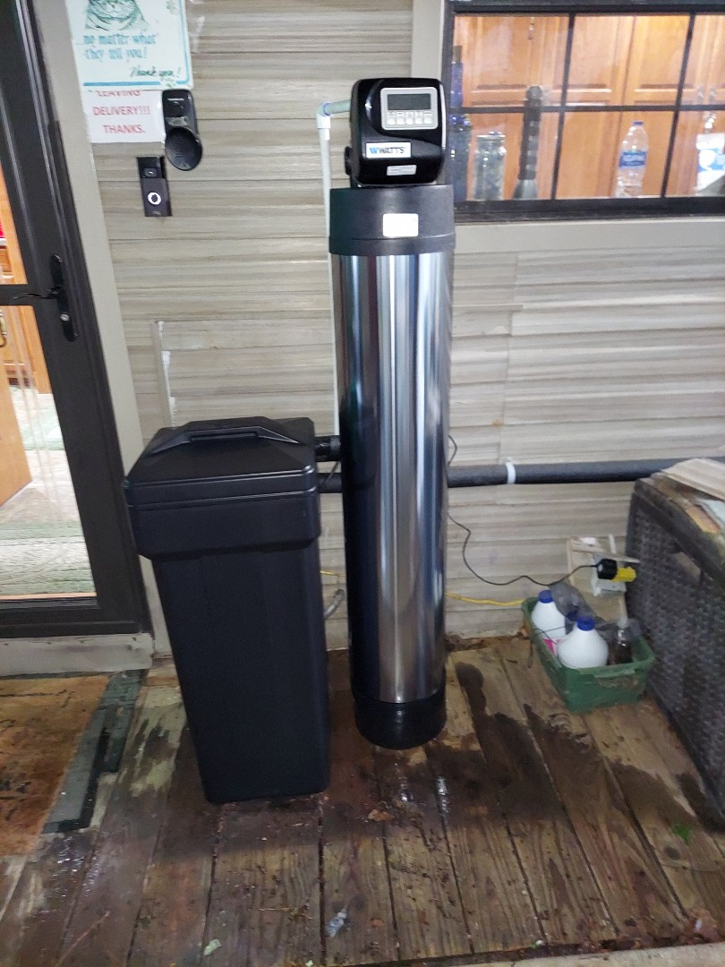Livingston, TX - Removed old Hague system install chem-free Platinum series water softener / filter