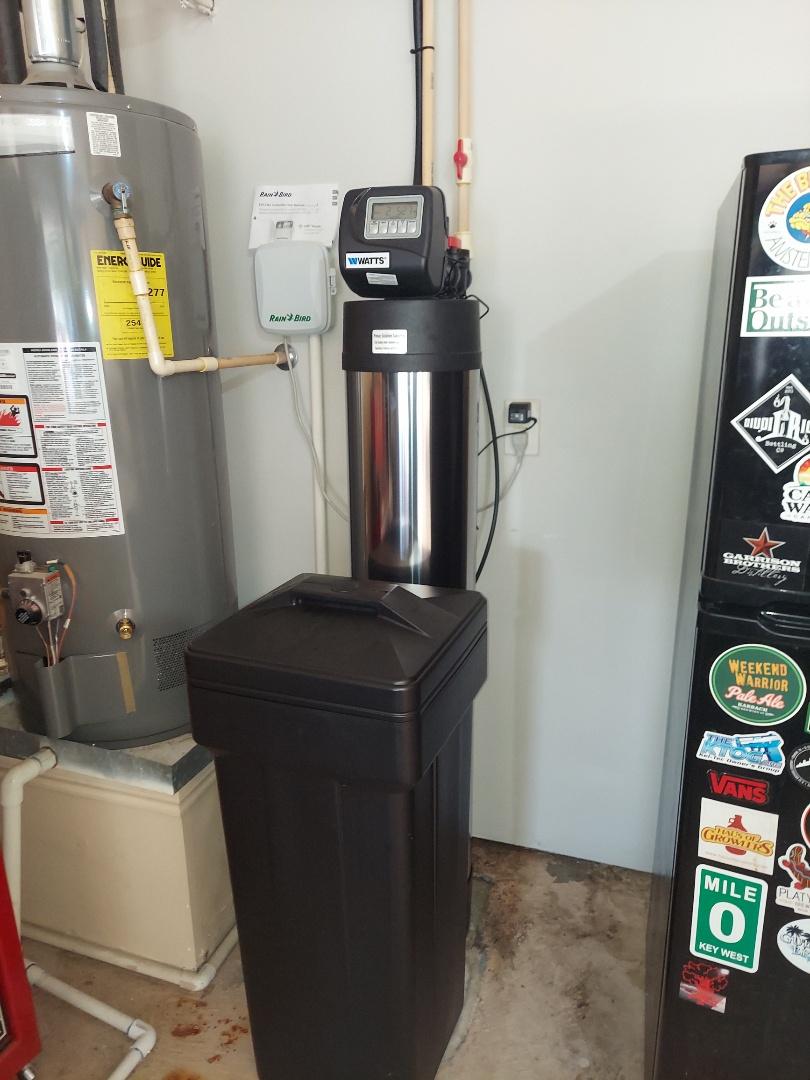 Cypress, TX - Removed rainsoft system install chem-free Platinum series water softener / filter