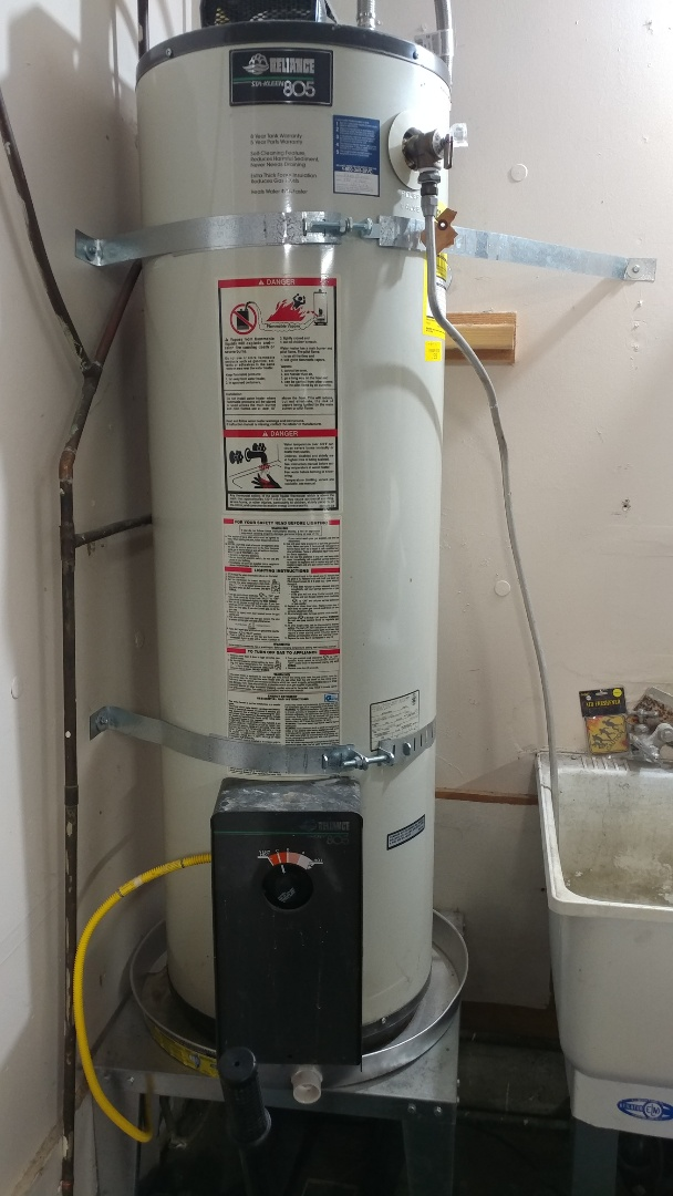 Just serviced a water heater.