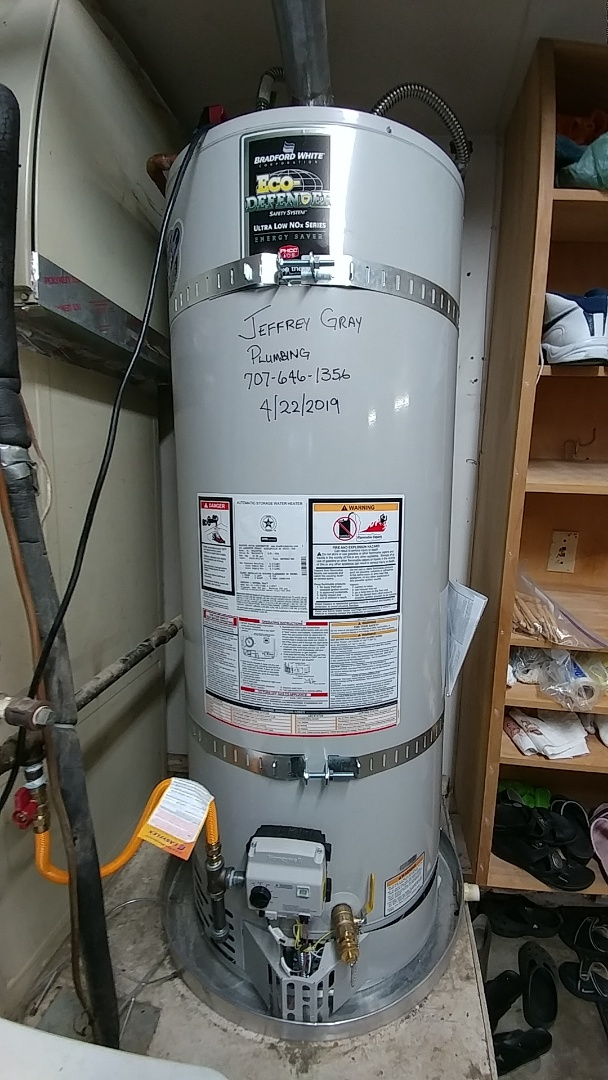 Installed new 50 gallon water heater.