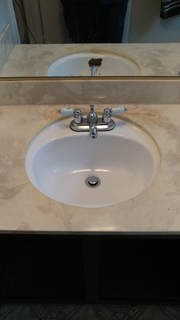 Napa, CA - Just just installed a bathroom sink in a house.