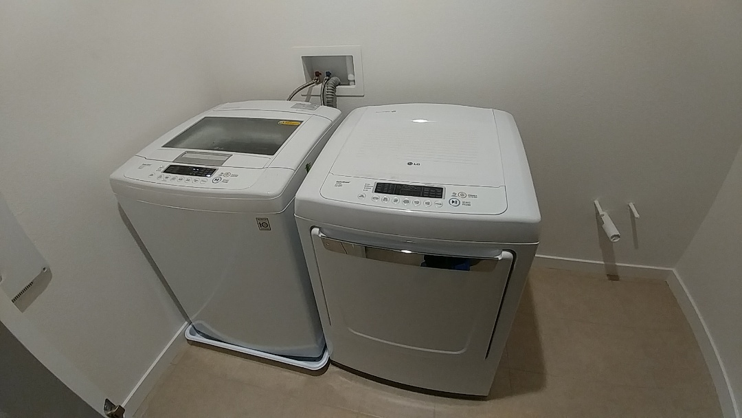 Installed new washing machine and dryer. Tested all - no leaks at this time
