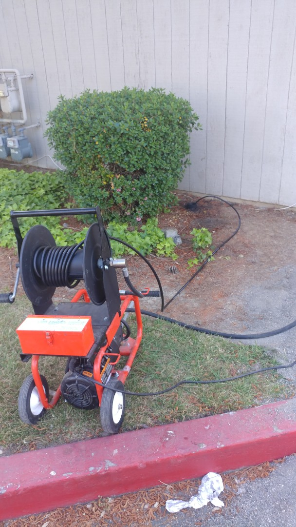 Just finished unclogging a a main line sewer drain with a power jetting machine.