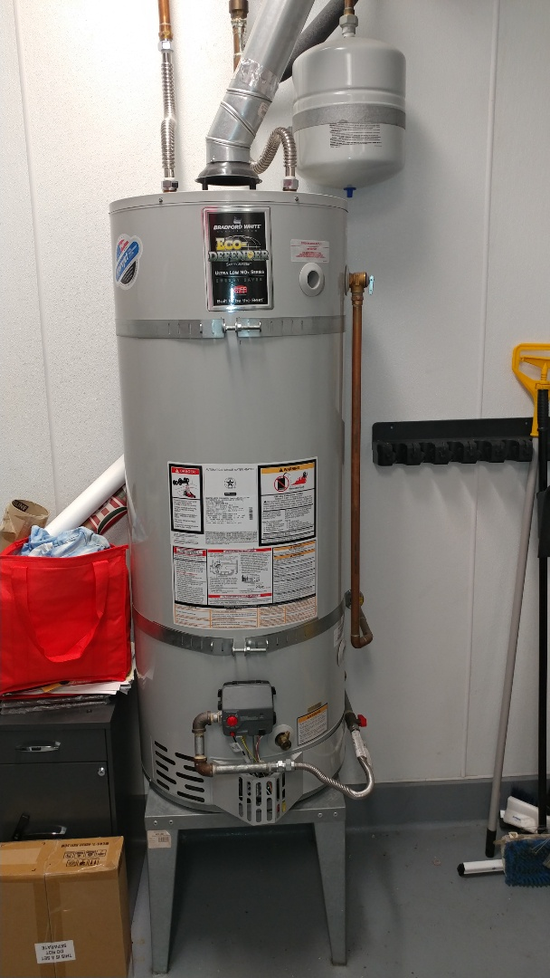 Just finished installing a new hot water heater burner.