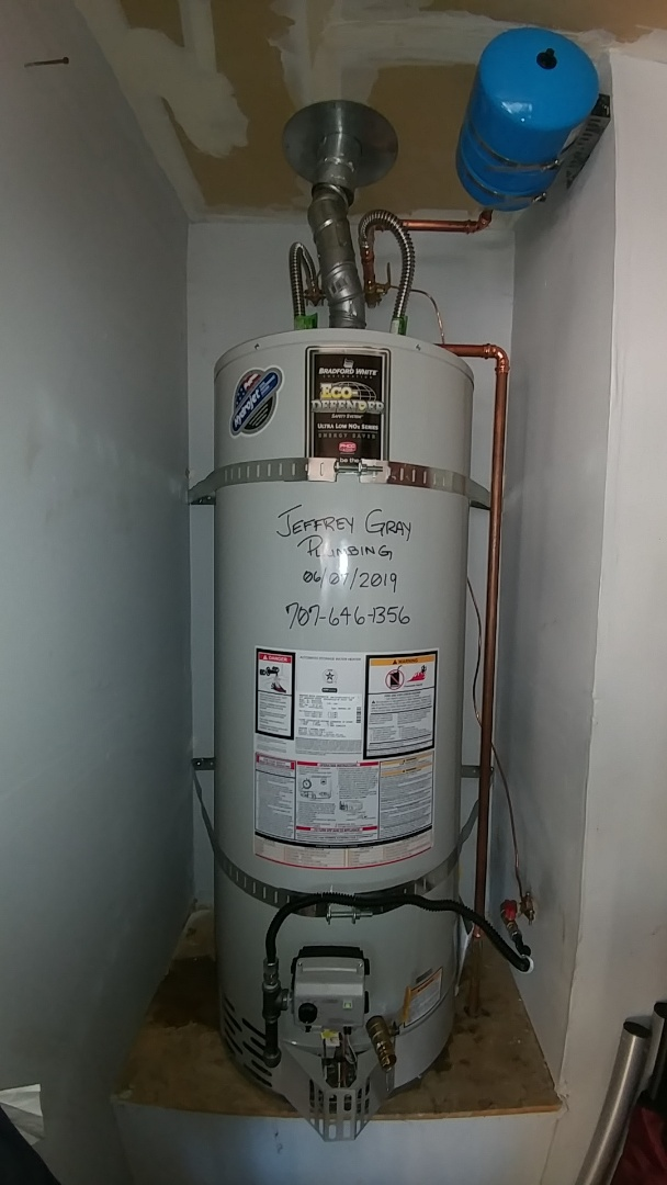 Rio Vista, CA - Install new 50 gallon water heater with expansion tank. Just it all. It looks at this time. Fired normally.