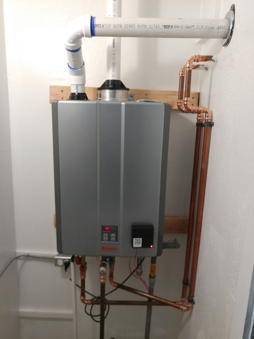 Installed new Rinnai Sensei rur199 indoor tankless water heater. Plus it all. No weeks at this time. Produces in the supply of hot water.