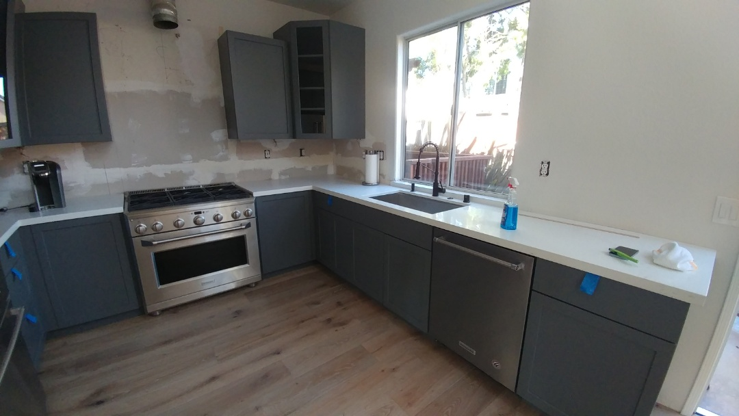Napa, CA - Installed new faucet, garbage disposal, dishwasher, free standing range.