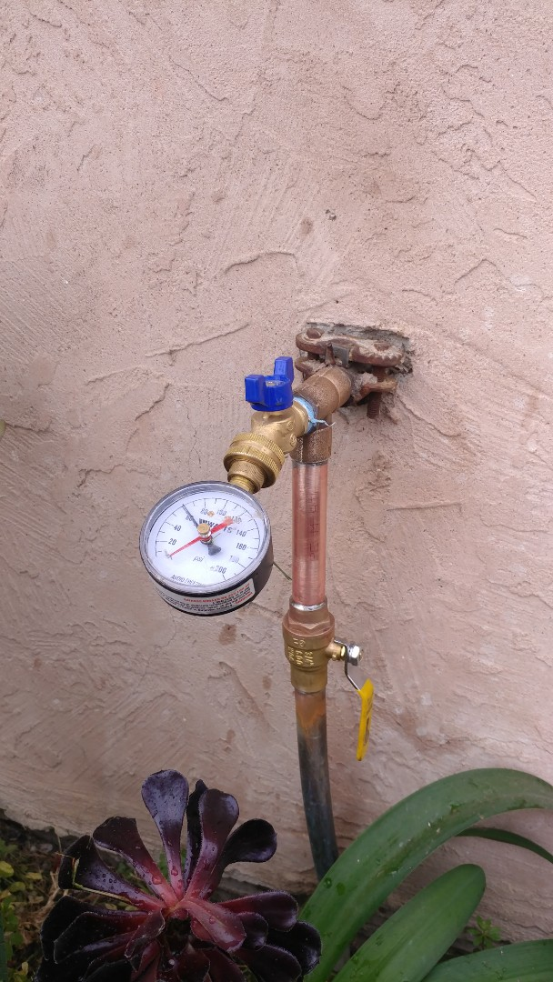 Vallejo, CA - Replaced ball valve and hose bib on front of home.