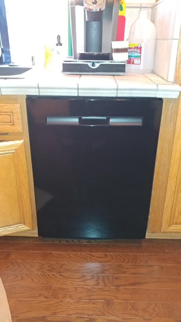 Benicia, CA - Install customer supplied dishwasher.