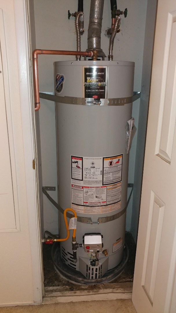 Fairfield, CA - Installed new 40 gallon low nox water heater.