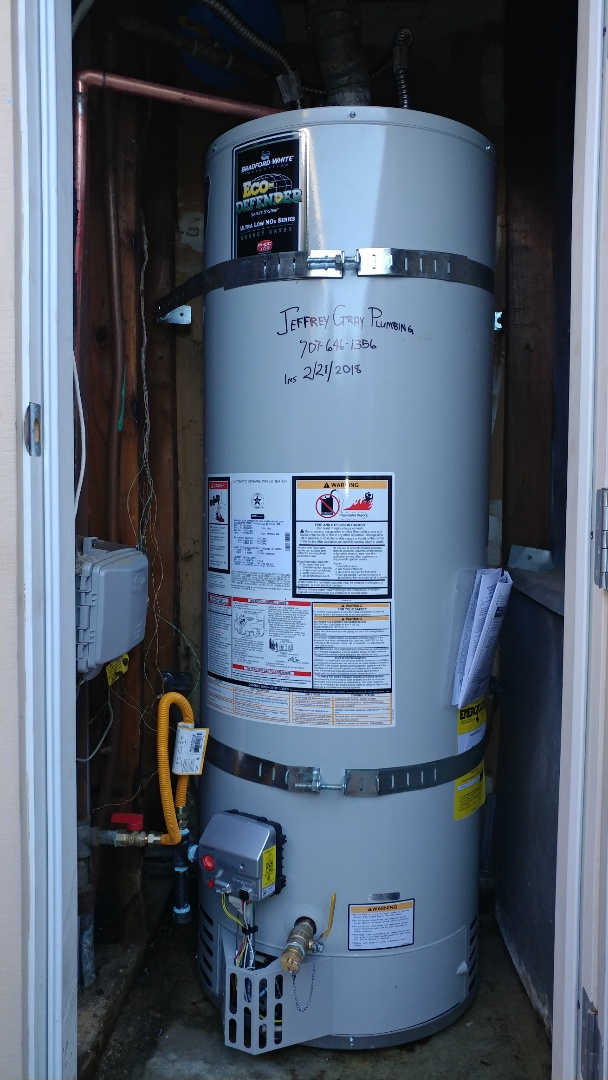 Concord, CA - Install new 40 gallon low nox water heater with expansion tank.