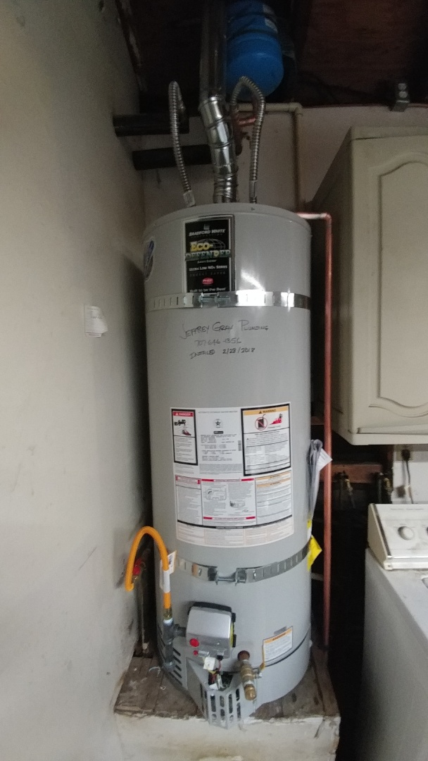 Vacaville, CA - Installed new 50 gallon water heater.
