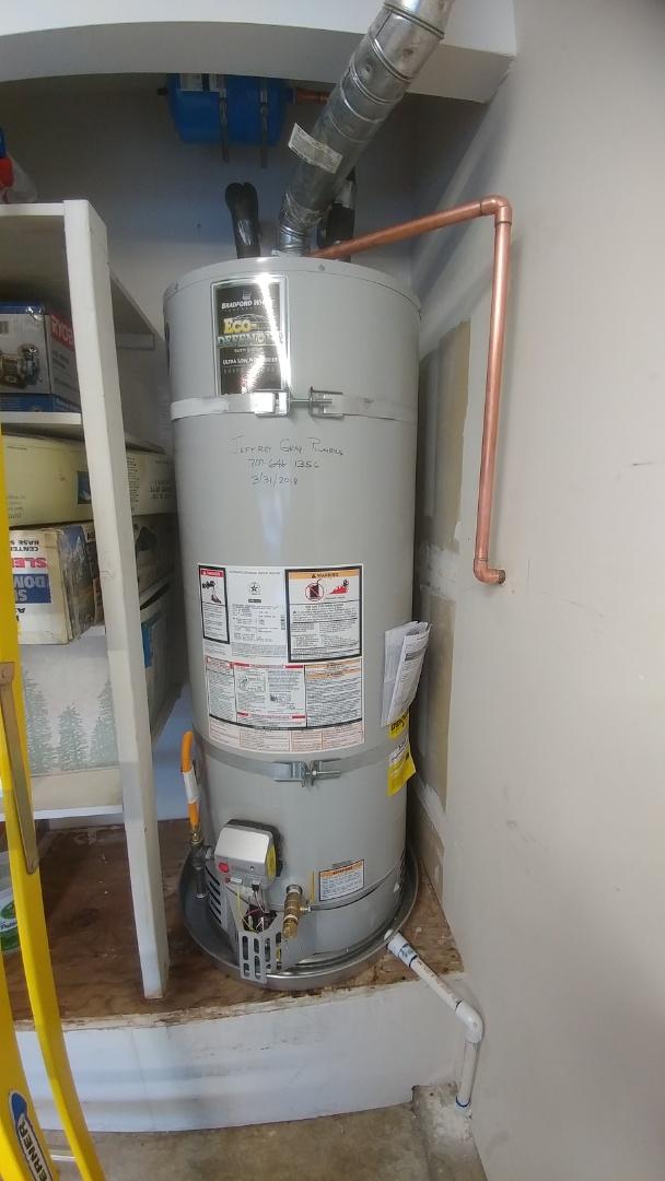 Suisun City, CA - Installed new 50 gallon water heater.