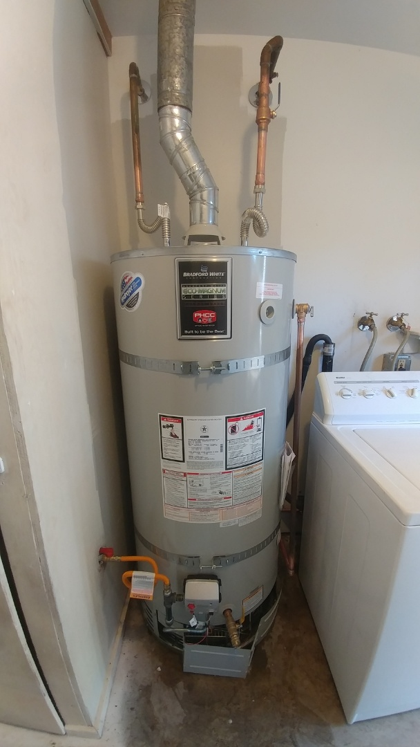 Vacaville, CA - Installed 75 gallon water heater and new shower valve.