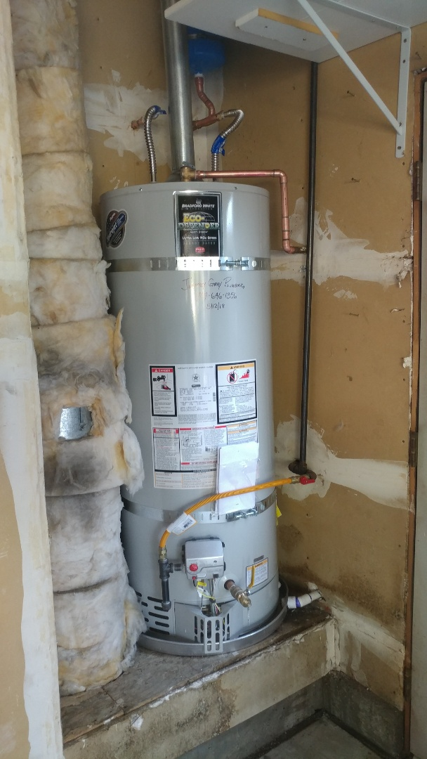 Installed new 50 gallon water heater