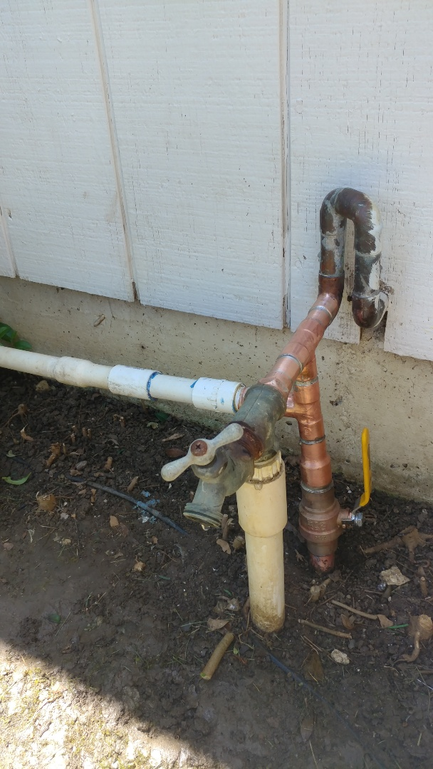 Fairfield, CA - Installed new main water shut off valve to home.