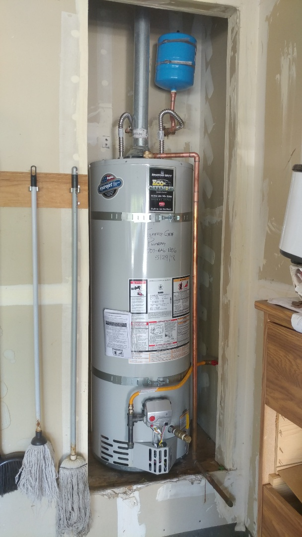 Fairfield, CA - Installed new 40 gallon low nox water heater and main shut off valve to home.