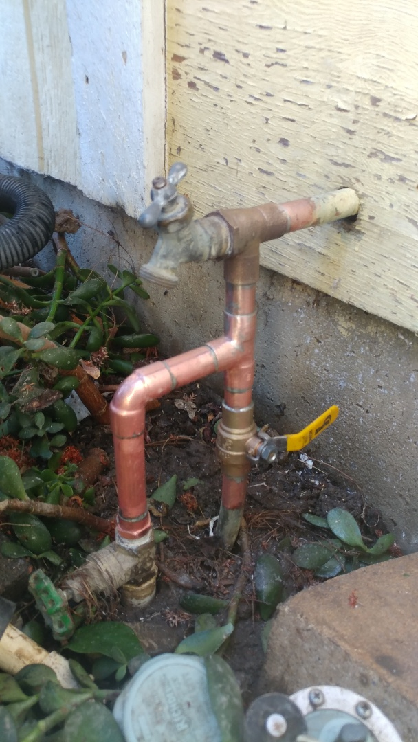 Suisun City, CA - Installed new emergency shut-off values and main value of the home.