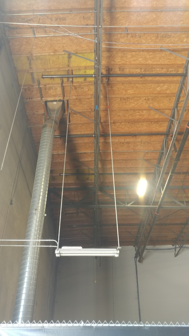 Fairfield, CA - Moved a 1-1/2 inch copper water line in a FedEx building that was banging into a light fixturesl.