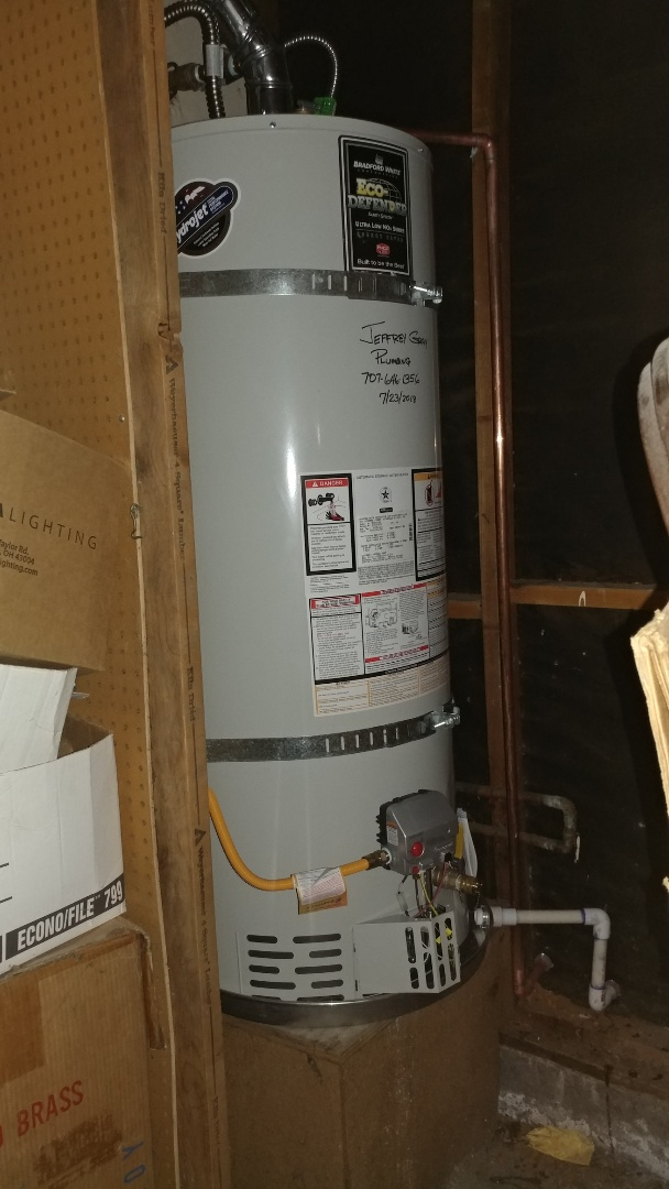 Fairfield, CA - Installed new 50 gallon water heater and repaired walk in tub.