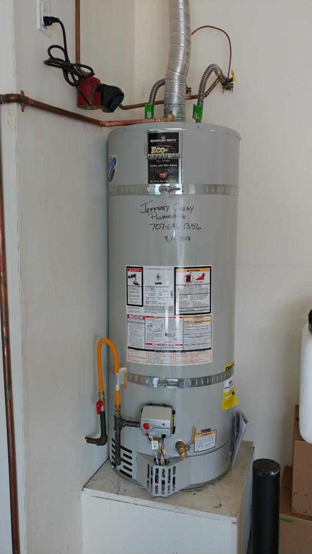 Rio Vista, CA - Installed new 50 gallon low nox water heater.