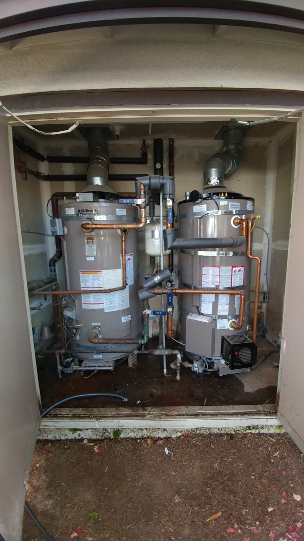 Napa, CA - Install new 100 gallon water heater.