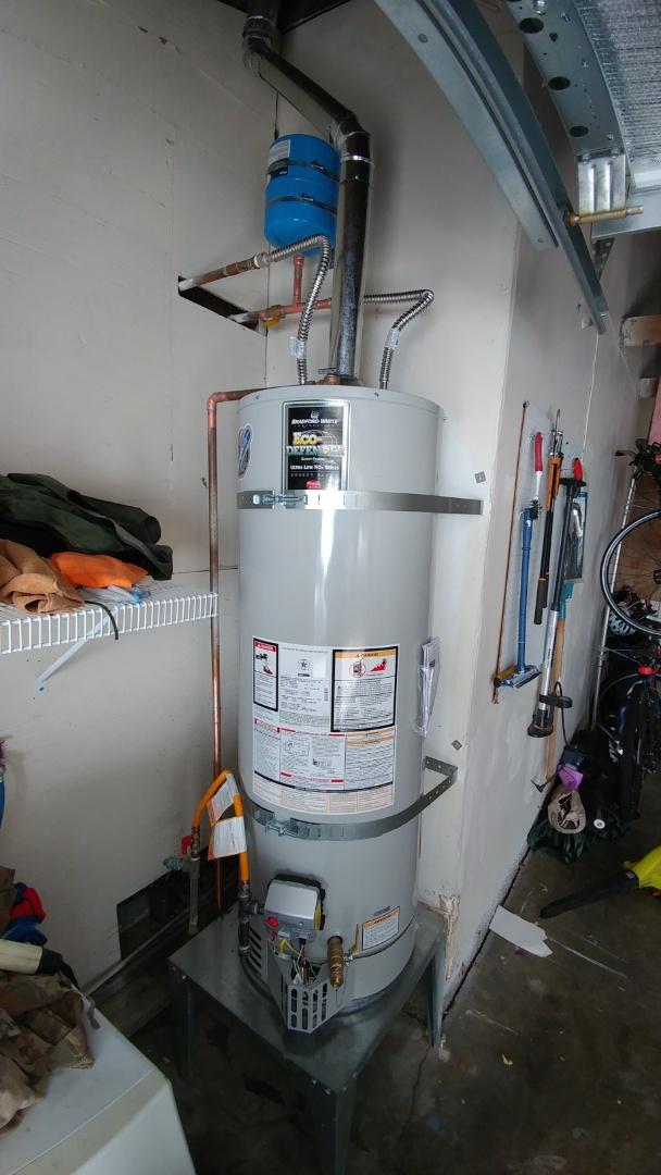 Fairfield, CA - Installed new 50 gallon water heater.
