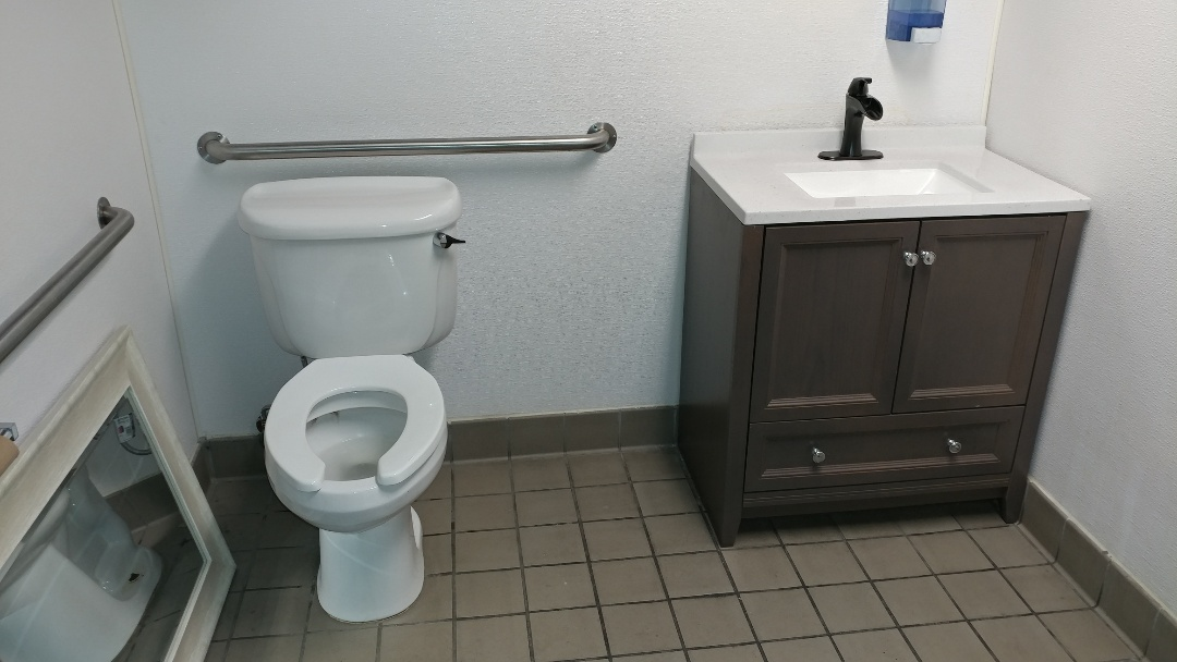 Suisun City, CA - Installed new vanity and repaired toilet.