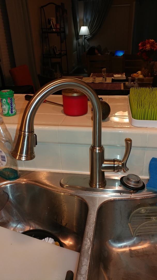 Suisun City, CA - Installed new gooseneck kitchen faucet.
