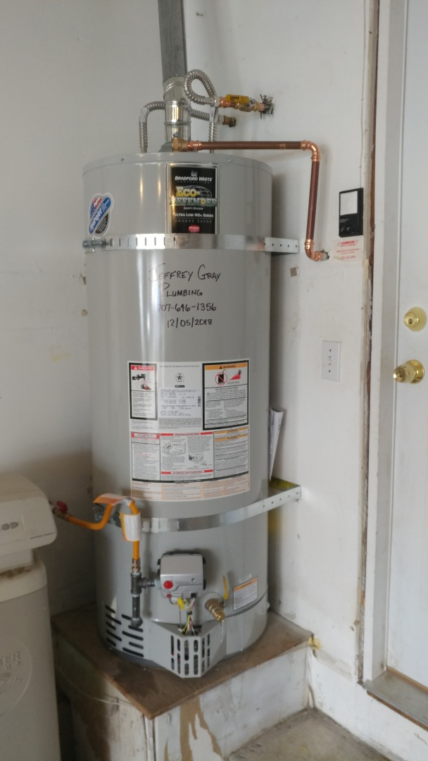 Fairfield, CA - Installed new 50 gallon low nox water heater.