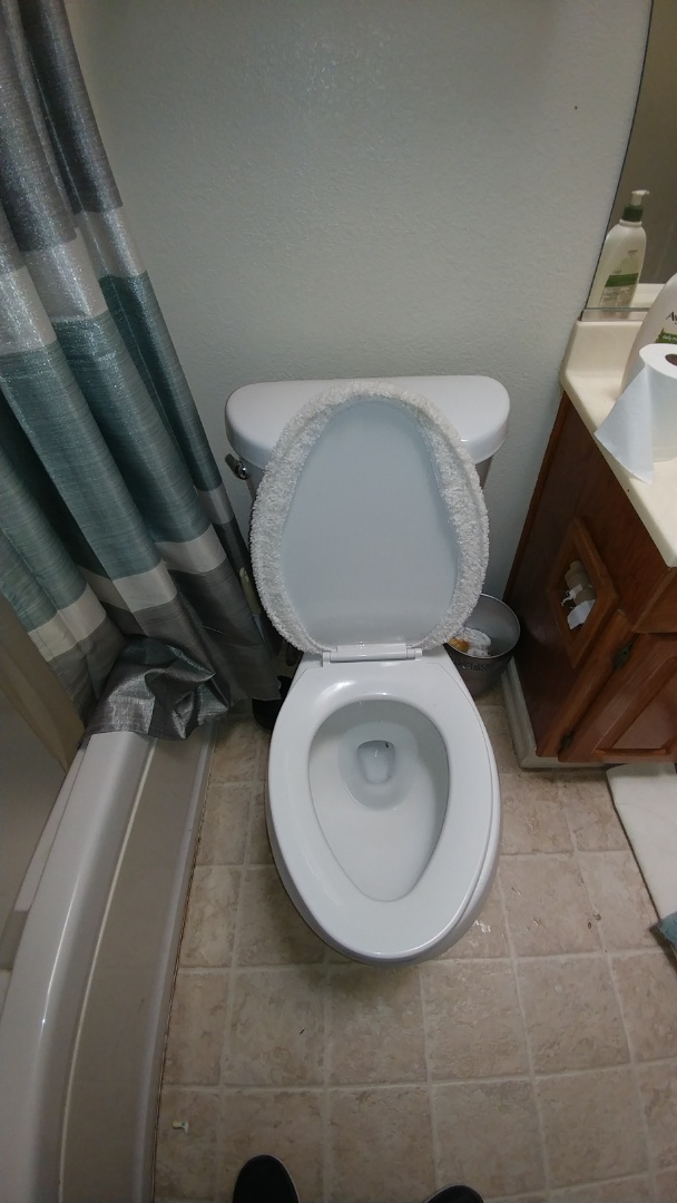 Toilet was clogged. Auger toilet cleared. Test it with toilet paper. Good flush restored.