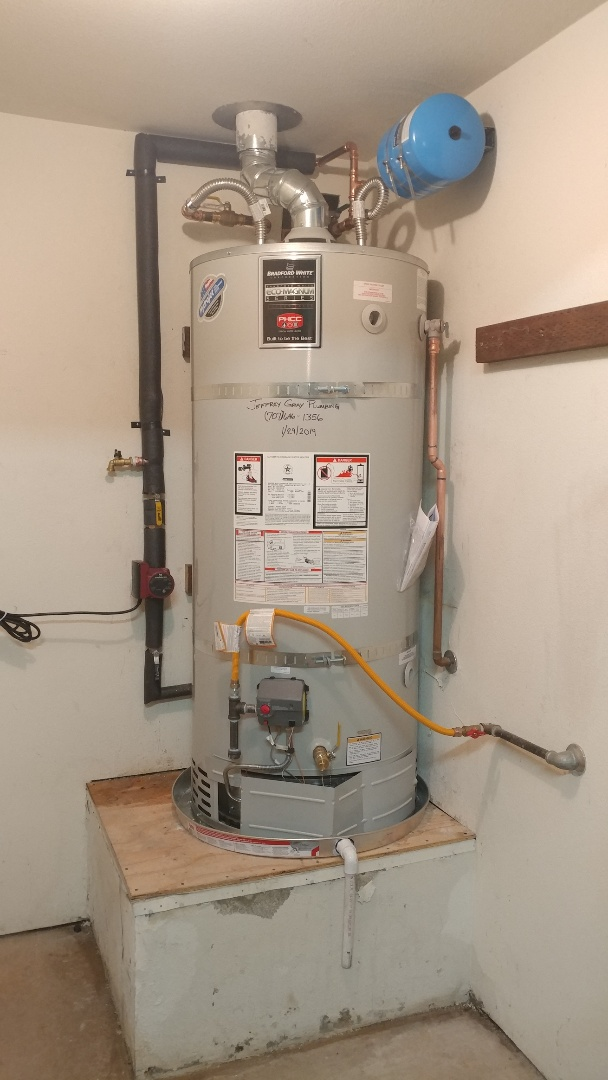 Installed new 75 gallon Ultra Low NOX water heater with a new recirculation pump.