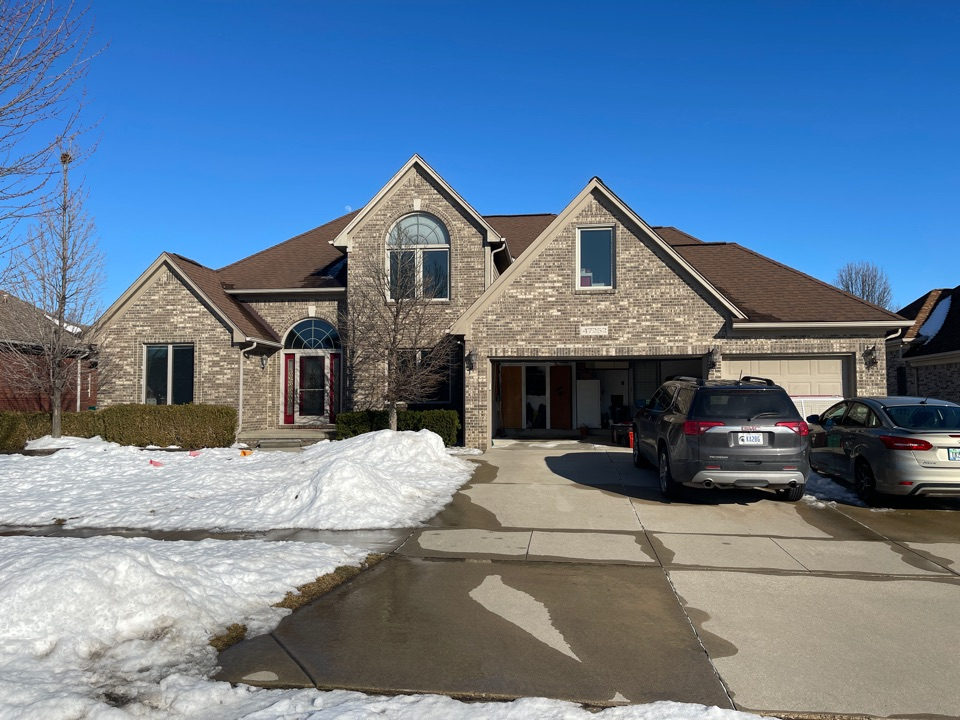 Macomb, MI - Kearns Brothers Inc. inspecting roof for replacement to new GAF Timberline high definition Z shingles
