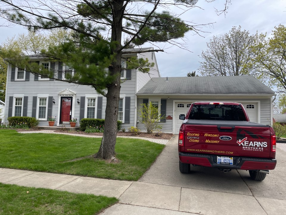 Northville, MI - Kearns Brothers Inc. Estimating a new GAF lifetime roofing system for a new customer