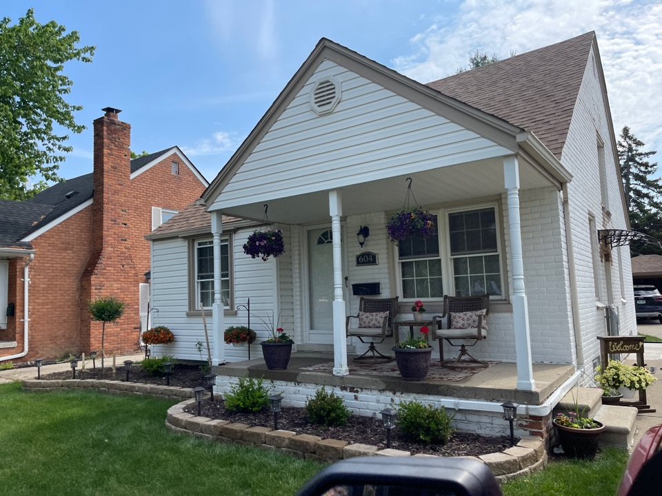 Dearborn, MI - Kearns Brothers Inc estimating a roof repair for new customers
