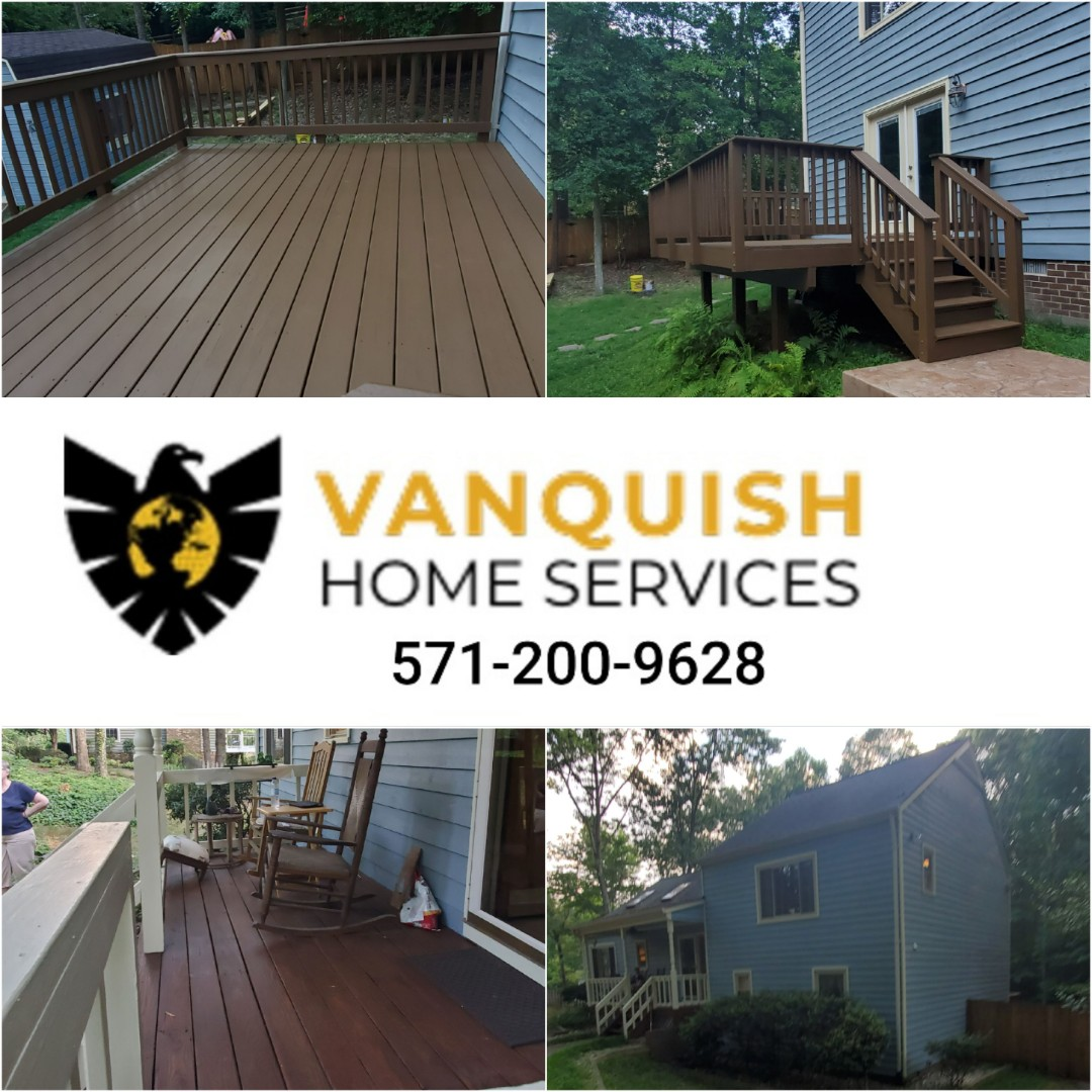 Fredericksburg, VA - House painting, deck resurface and refinishing job completed in Fredericksburg, Virginia.