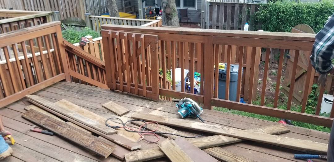 DECK RESURFACING IN CENTREVILLE VA, FAIRFAX COUNTY VA   DONT REBUILD REJUVENATE