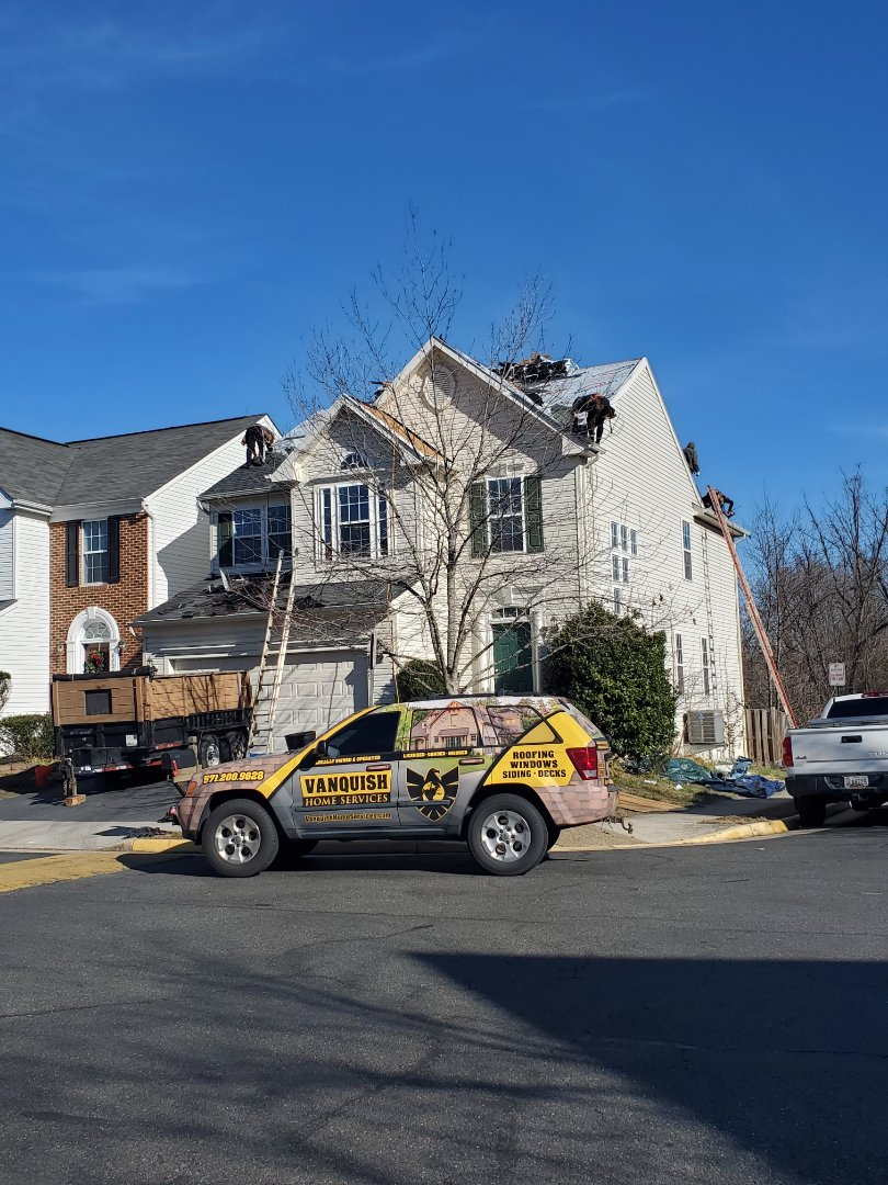 In Alexandria, Fairfax County, Virginia area today!  CURRENTLY IN YOUR AREA PROVIDING BLOWOUT DISCOUNTS ON ALL YOUR EXTERIOR HOME IMPROVEMENT PROJECTS   ROOFING, WINDOWS, DOORS, SIDING, GUTTERS, TRIM PACKAGE, ATTIC INSULATION, INSURANCE CLAIMS, DECKS, DECK REPAIR, DECK REFURBISH, DECK STAINING.   VANQUISH HOME SERVICES  571-200-9628